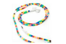 kikkerland earbuds multi color tube beads