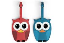 kikkerland whoo owl bagagelabel