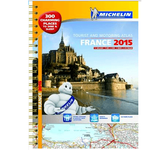 michelin touring and motoring atlas france 2015