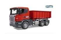 scania vrachtwagen met afrolcontainer