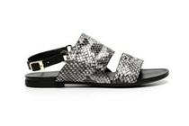 manfield grijze sandalen