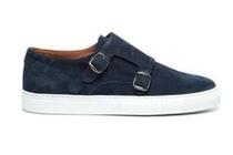 manfield blauwe sneakers