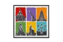 schilderij skyscrapers