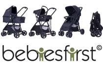 bebies first kinderwagen zwart