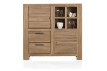 tulsa highboard 2 deuren 2 laden 4 niches 145 cm