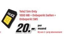 tele2 sim only 1000mb onbeperkt bellen onbeperkt sms