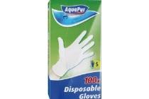aquapur latex wegwerphandschoenen