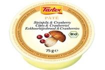 tartex pat en eacute eekhoornbrood en amp cranberry