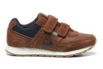 le coq sportief cognac sneakers met klittenband