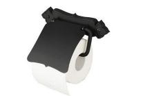 haceka brocante toiletrolhouder met klep zwart