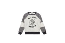 pepe jeans milo sweater met flockprint