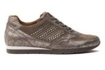 trendy gabor sneaker met crocoprint en studs