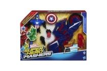 marvel super hero mashers actiefiguur met voertuig