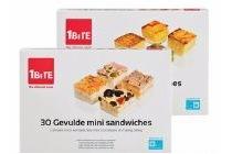 1 bite mini sandwiches of quiches