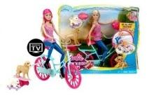 barbie met fiets en dieren