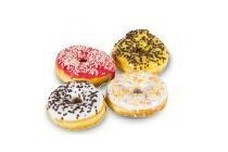 coop gekleurde donuts