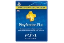 playstation plus 12 maanden lidmaatschap