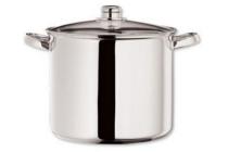 handy soeppan met glazen deksel 8 l en oslash 24 cm rvs