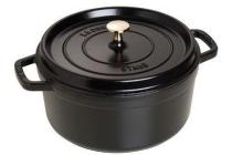 staub ronde stoof braadpan 24 cm zwart
