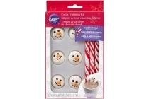 wilton snowman cocoa trim kit