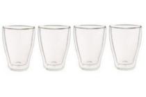 dubbelwandige glazen 350 ml set van 4