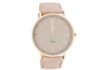 oozoo vintage c7342 horloge met leren band 36 mm
