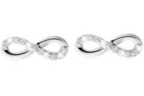 lucardi zilveren oorbellen infinity met zirkonia