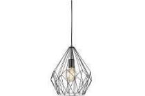 eglo vintage hanglamp carlton zwart
