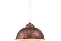 eglo vintage hanglamp truro antiek koper