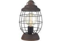 eglo vintage tafellamp bampton bruin patine