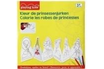 playing kids kleur de prinsessenjurken