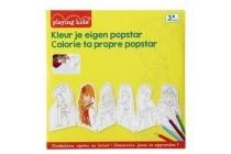 playing kids kleur je eigen popster