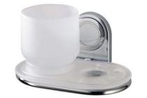 la ronde glas tube tandenborstelhouder met acryl inzet m chroom