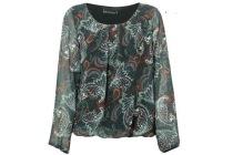 blouse voile met print