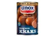 unox knakworst magere knaks