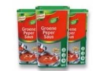 knorr groene pepersaus