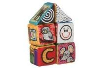 playing kids zachte blokken huis