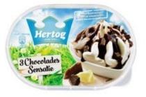 hertog ijs 3 chocolades 900 ml