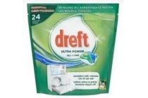 dreft all in one original vaatwastabletten 24 stuks 374 g