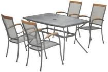 larvik tafel en stapelstoelen