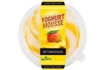 boermarke yoghurt mousse met mangosaus