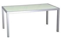 tarrington house aluminium tafel met glazen blad