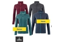 dames of heren outdoor fleece vest