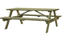 picknicktafel exclusive recht 180x70 cm