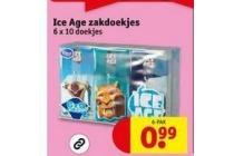 ice age zakdoekjes