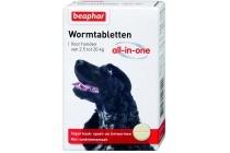 beaphar wormtablet all in one hond 2 5 20 kg