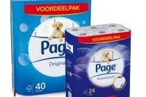 page toiletpapier kussenzacht of original zacht en sterk