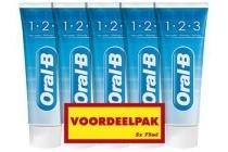 oral b 123 tandpasta voordeelpak
