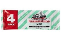 fisherman s friend suikervrij strong mint 4 pack