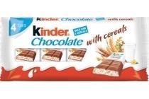 kinder chocolade met cereals